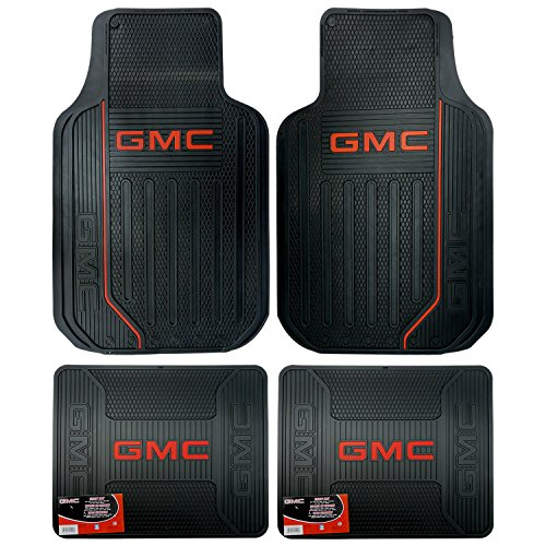 U.A.A. INC. Elite Series Front & Rear Car Truck SUV Seat Rubber Floor Mats for GMC