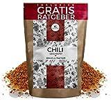 Chili Chilischoten geschrotet 750g EXTRA SCHARF   getrocknete hot Chillis mit Kernen inkl. gratis Ratgeber   Chiliflocken für Chilimühle - Capsaicin