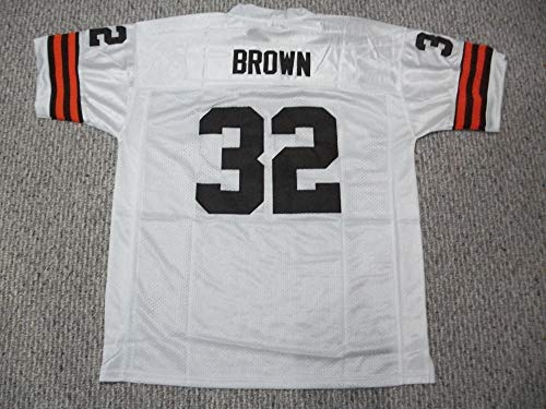 Unsigned Jim Brown #32 Cleveland Custom Stitched White Football Jersey Various Sizes New No Brands/Logos (S)