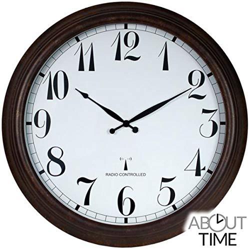 Primrose About Time™ Funkuhr für den Außenbereich, brauner Antikeffekt, 57,5cm