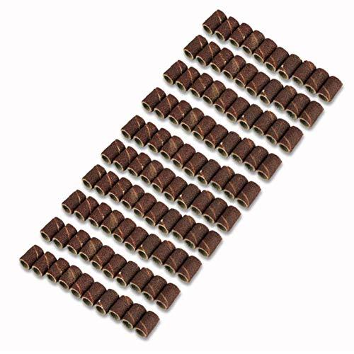 GFHDGTH 100 STÜCKE 80 120 180 Schleifpapier Kreis Nail art Schleifbänder Datei Dremel Zubehör Drehwerkzeug Ersatz Bits Kits, 120