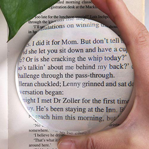 4 Inch Acrylic Paperweight Reading Magnifying Glass/Dome Magnifier/Paperweight Optical Half Ball Lens (95mm)