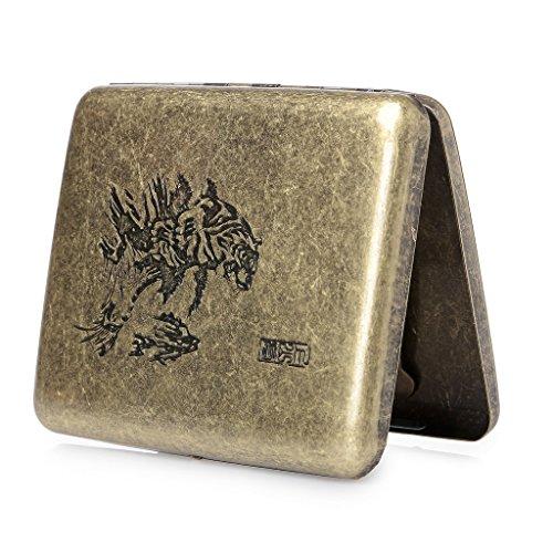 hopewey Cassetta per Sigarette in Metallo, portasigarette per 20 Sigarette Scatola per Sigarette lussuosamente Elegante Tiger Z1