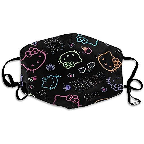 Staubdichte Masken, geeignet zum Laufen und Radfahren im Freien, Black Hello Kitty