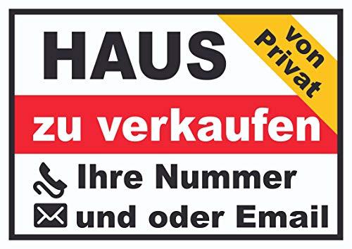 HB-Druck Haus Verkaufsschild von privat Schild A2 (420x594mm)