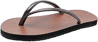 Comfortable/beautiful sandals and slippers Fashion Flip Flops Women Wear Summer Beach Non-Slip Beach Shoes Women'S Feet Flat Bottom Sandals And Slippers Women'S Shoes (Color : Silver)