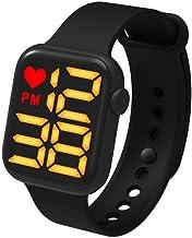 Tumnea Smart Watch fitnesstracker, elektronisch kinderhorloge, waterdicht, fitnesshorloge, vierkant touchscreen-horloge vo...