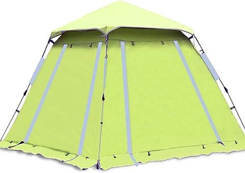 Jkl000-tent Tente de Camping en Plein Air 4-5 Personnes Ultra-léger Portable Instantanée Crème Solaire étanche Camping Tourisme Plage Vacances Pique-Nique Parc Pelouse Fruit Vert
