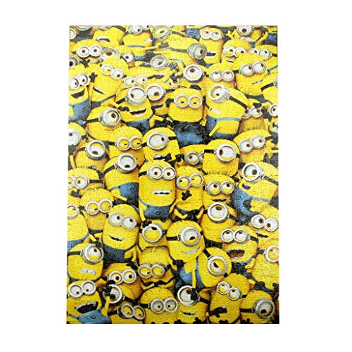 HIGQ IQ Minions Jigsaw Puzzle 1000 Pieces Adult Intelligence Grown Ups Stress Reliever High Difficulty Adult Brain Game 0222