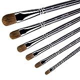URCGP Malpinsel Set Künstlerpinsel aus Premium Wieselhaar für Acrylmalerei Aquarellmalerei