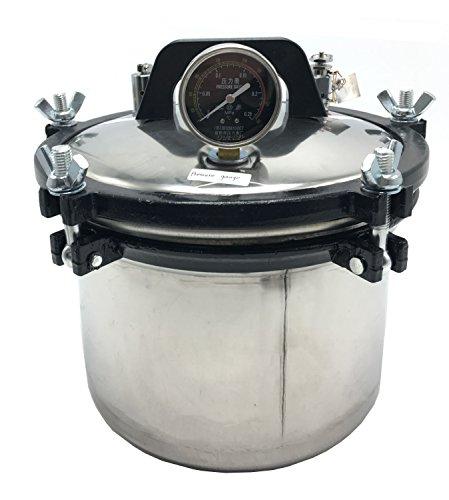 Hanchen 8L Hohe Druck Sterilisator 12cmx24cm 1KWAutoklaven Dampf Sterilisator Elektrische Dampfsterilisator für Labor Hause Lebensmittel Fabrik 220V