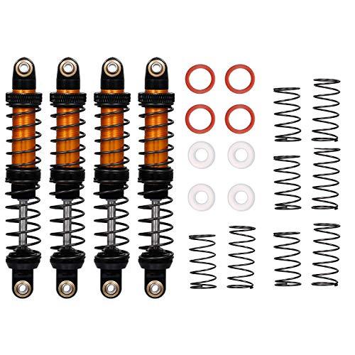 GoolRC 4pcs 90mm Metal Shock Absorber Damper Adjustable for 1/10 Traxxas TRX-4 Axial Scx10 D90 D110 RC Car