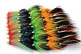 Tigofly Juego de 40 señuelos de pesca con mosca y cabeza de cono en 5 colores surtidos