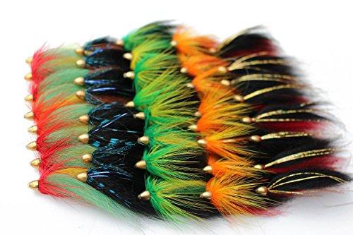 Tigofly 40 pcs/lot Cone Head Tube Fly 5 Assorted Colors Popular...