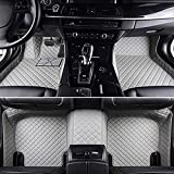 Alfombrillas Coche Cuero Impermeable Antideslizante Alfombra Auto Decoraciones de interior Delanteras y Traseras para Maserati Granturismo 2015-2020 Accesorios Cobertura Completa