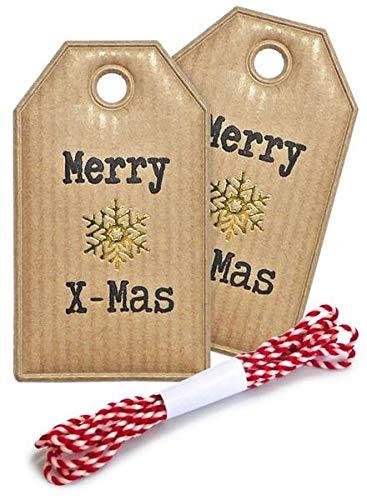 Zischka Anhänger Set Weihnachten Merry Xmas 3,5x6cm
