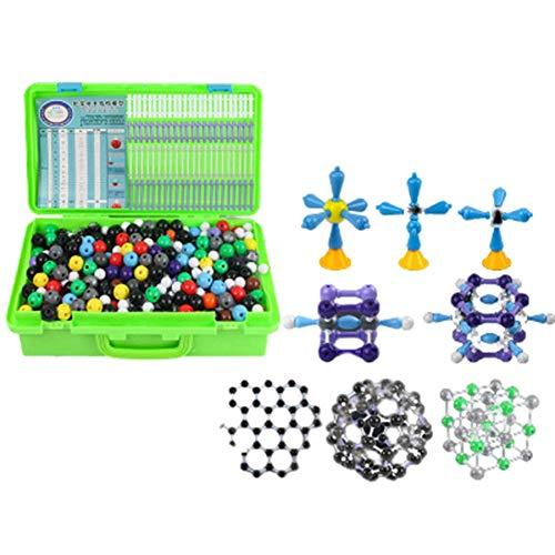 BIUYYY 838Pcs Kit de Estructura orgánica inorgánica Molecular Kit de Modelo de química atómica para niños Educación Enseñanza