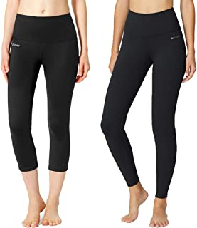 BALEAF Women's High Waist Legging Tummy Control Yoga Pants Running Tights Inner Pocket