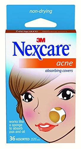 Nexcare Parches absorbente para el acné, 2 tamaños, 36unidades
