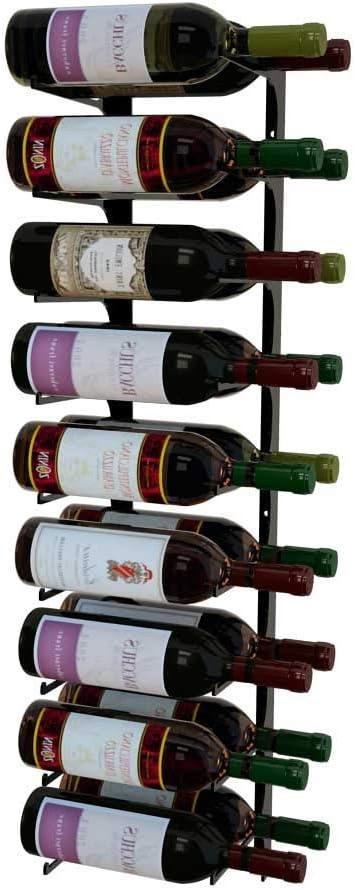 Revue 18 Bottle Wall Mounted Wine Forward FT 3 Dou Long-awaited Rack Label Philadelphia Mall