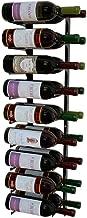 Wine Cellar Innovations Revue 18 Bottle Wall Mounted Rack, 3 FT, Double Deep, Satin Black, Modern Wine Storage, Earthquake Resistant