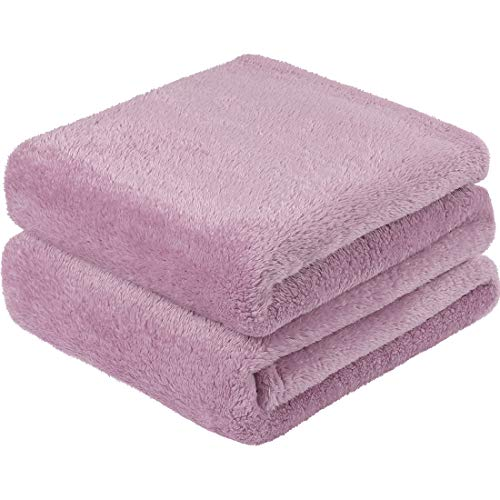 PiccoCasa Sherpa Fleece Blanket Twin Size, Soft Warm Teddy Sherpa Blanket,Lightweight Plush Microfiber Fleece Shaggy Blanket for Sofa Couch Bed (150 x 200 Cm,Lilac Purple)