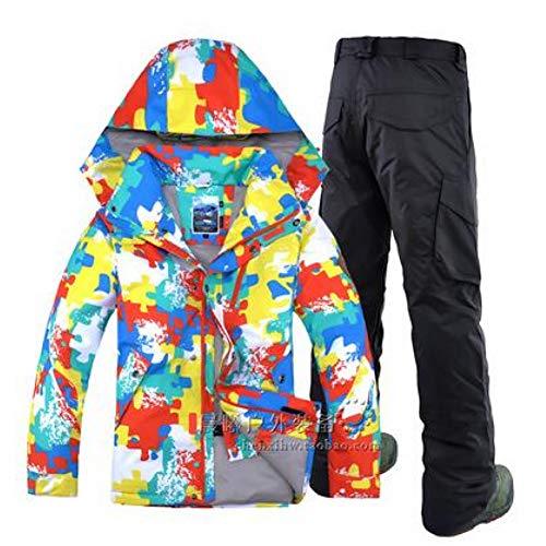 KUNHAN Heren ski-jack Heren skischoenen Heren Double Board Snowboard Mannelijke Waterdichte Winddichte Ski Suit Winter Ski Jacket+Ski Broeken