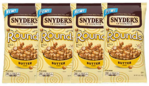 Snyder#039s of Hanover Mini Pretzel Rounds Four 12 oz Bags Butter Flavored