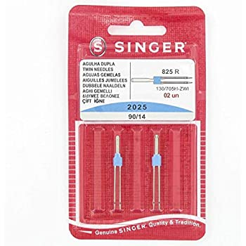 Singer - Agujas Dobles para máquina de Coser (Distancia: 3 ...