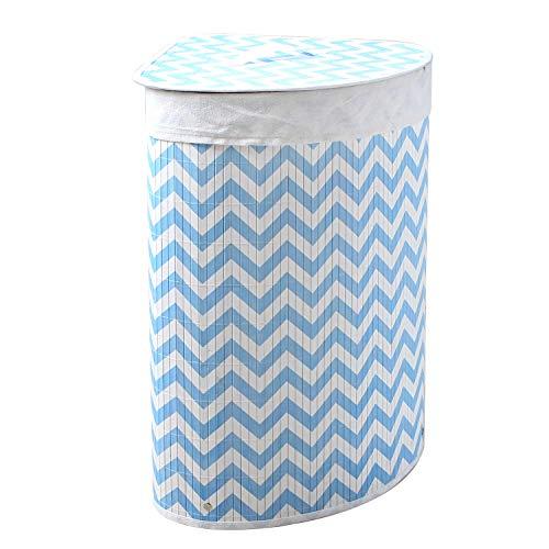 Wäschekorb Bambus Faltbar Wäschebox Wäschesammler herausnehmbar Wäschesack Eckig 35x35x60CM