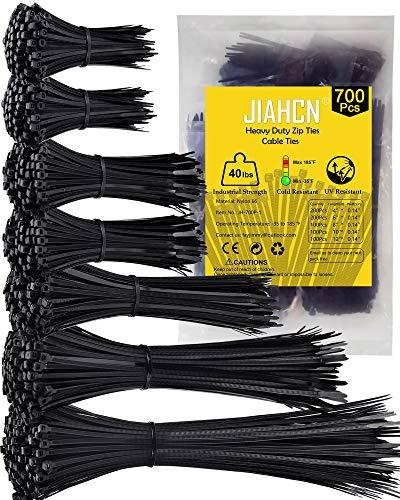 700Piezas Bridas Plastico Varios TamañOs 300/250/200/150/100 mm Bridas Negras 3.6mm Bridas Electronica Cable Bridas de Plastico para La GestióN De Cables, Exterior, Hogar, Oficina Brida
