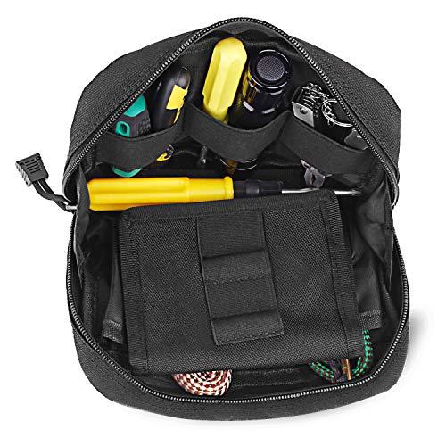 AIRSSON Molle Tasche Klein 1000D Nylon Taktische Militär Tasche Gürteltasche Beutel Utility Pouch Wanderausrüstung für Gadget-Dienstprogramm Handy Camping Wandern und Reisen