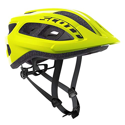 Scott Supra MTB Adult Helmet Best All Mountain Bicycle Helmet CPSC Approved (Yellow Fluorescent, OSFA)