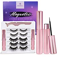 Arishine Magnetic Eyeliner and Lashes Kit With Reusable Lashes (5 Pairs)