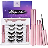 Magnetic Eyeliner and Eyelashes Kit, Magnetic Eyeliner for Magnetic Eyelashes Set, With Reusable Lashes [5 Pairs]