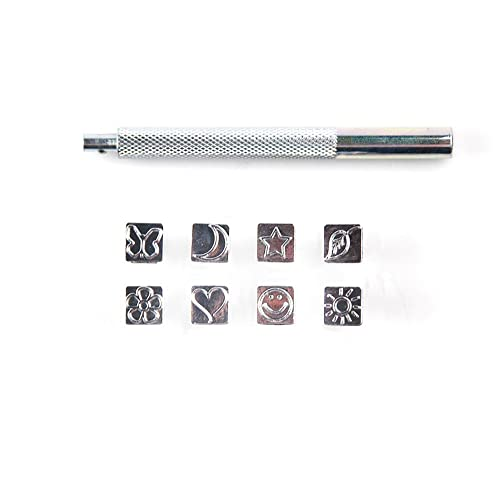 BENECREAT 6mm 1//4 Apple Metal Design Stamps Matte Hard Carbon Steel Punch Stamping Tool for Jewelry Leather Wood Crafting