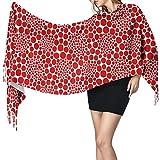 Bufanda de mantón Mujer Chales para, Yayoi Kusama Women's Winter Warm Scarf Fashion Long Large Soft Cashmere Shawl Wrap Scarves