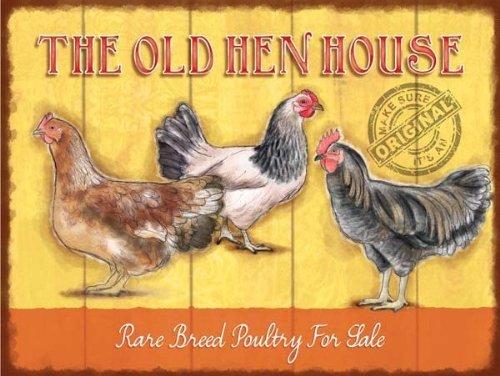 The Old Hen House Plaque en métal rétro 15 x 20 cm