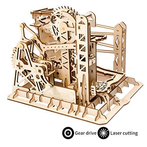 ROKR Mechanical Gears DIY Building Kit Modelo mecánico Kit de construcción con Bolas para Adolescentes y Adultos (Lift Coaster)