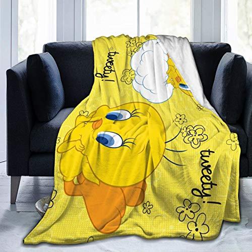GIPHOJO Weiche Twee-ty Vogel Plüschdecke Micro-Fleece-Decke für Damen Herren Jungen Mädchen Flanelldecken für Stuhl Sofa Bett Auto Schlafzimmer Home Office leichtes Geschenk 127 x 101,6 cm