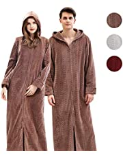 Cimoon 着る毛布 部屋着 ガウン 毛布 レディース メンズ 着るもうふ 冬服 室内服 フランネル ルームウェア 洗える フード ポケット付き フード付きヒートウォーム ふわふわ保温 男女兼用 120cm 130cm 140cm… (コーヒー色, XL)