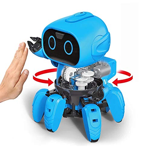 Hi-Tech First STEM Robot Kits DIY Mechanical Robot Building Set for Boys, Girls, Kids, Children (Gesture Sensing Edition)
