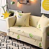 JiaQi Poliester Sofa slipcover elástico,Antideslizante Funda de sofá,Cama a Prueba de Polvo 1 Pieza Universal Todo Incluido Protector de los Muebles para 1 2 3 4 Cojines sofá-M 4 plazas
