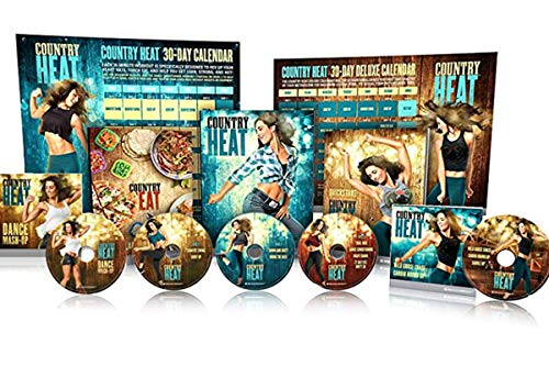 netsdoctor Conutry Heat Dance Workout DVD-Combining Diet and Exercise 5 DVD Base Kit