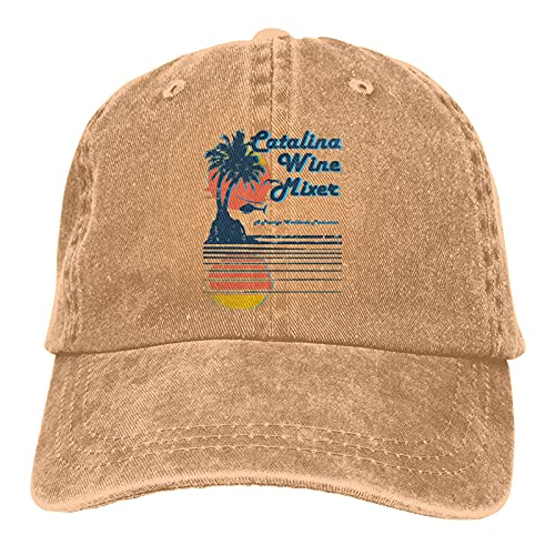 Catalina Wine Mixer Denim Baseball Hats Adult Hats Unisex Fashionable Adjustable