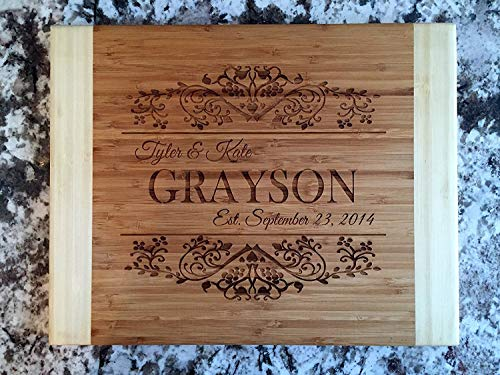Personalized Wood Cutting Board for Mom or Grandma (11 x 14 Two Tone...