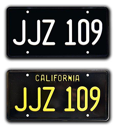 Celebrity Machines Steve McQueen Bullitt Mustang | JJZ 109 | Metal Stamped License Plates