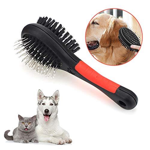 Toulifly Cepillo De Perro,Cepillo De Gatos,Cepillos para Perros y Gatos,Cepillo de Aseo para Mascotas,Cepillo Doble para Perro Y Gato,Peine de Limpieza de Mascotas,para Baño Eliminar el Pelo Flotante