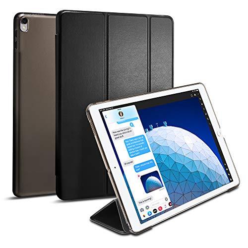Spigen Smart Fold Kompatibel mit iPad Air 3 (10,5 Zoll, 2019) / iPad Pro 10,5 (2017) Hülle - Schwarz