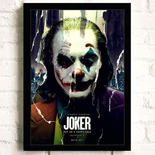 JOKER THEY LAUGH AT ME   PHOTO  PRINT ON FRAMED CANVAS WALL ART HOME DECORATION